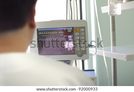 doctor before the medical monitor