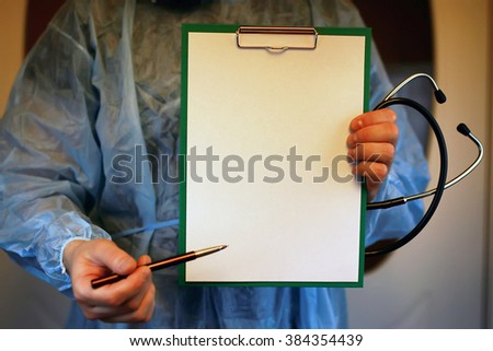 doctor cardiologist stethoscope file - stock photo