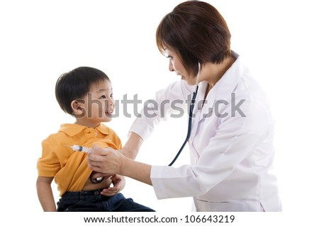 doctor check up - stock photo