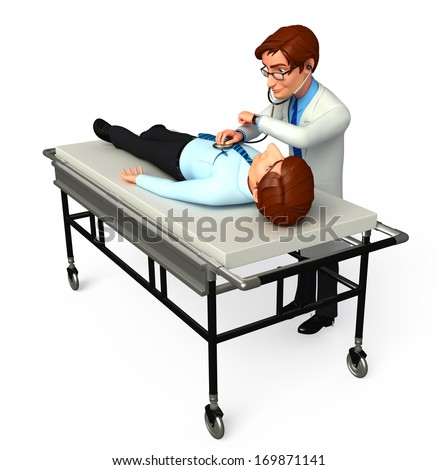 Doctor check up a patient - stock photo