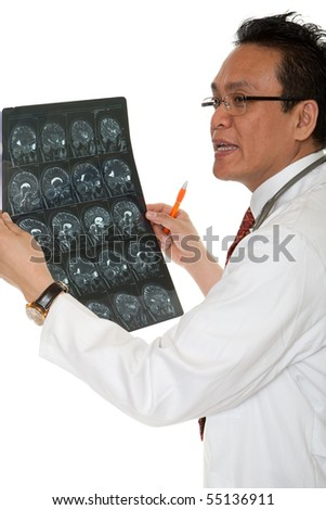 Doctor diagnosis x-ray