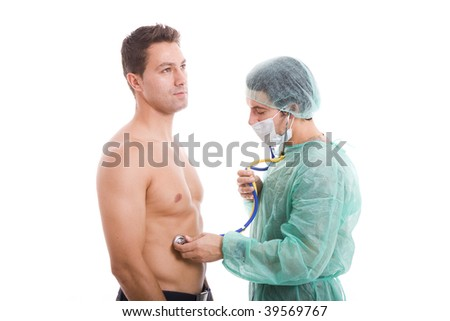 doctor doing a medical exam to the patient