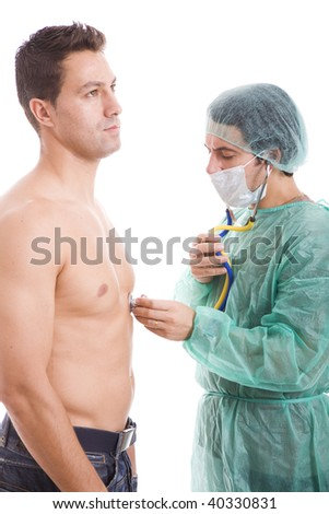 doctor doing a medical exame to the patient