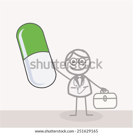 Doctor Green Capsule - stock photo