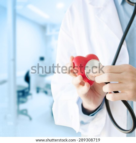 Doctor hand with stethoscope