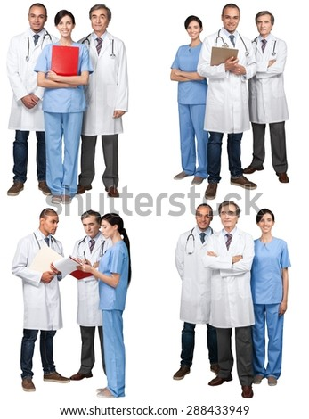Doctor, Healthcare And Medicine, Group Of People.