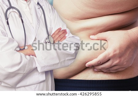 doctor help fat man