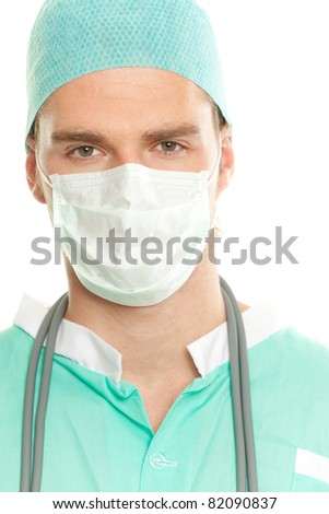 doctor in green costum