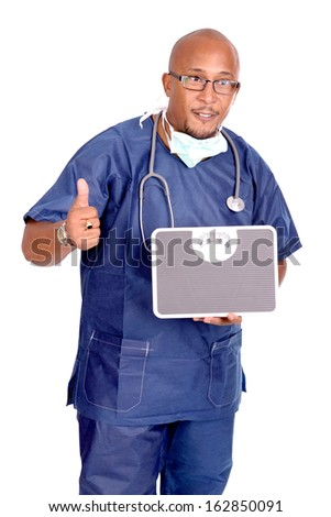 doctor isolated in white background - stock photo