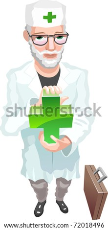 doctor keeping medical sign - stock photo