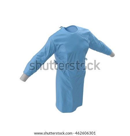 Doctor lab blue coat isolated on a white 3D Illustration