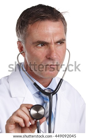 Doctor Listening With Concern