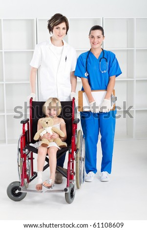 doctor, nurse and little girl patient