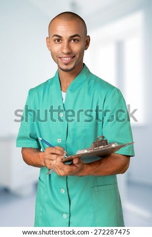 Doctor, Nurse, Healthcare And Medicine. - stock photo
