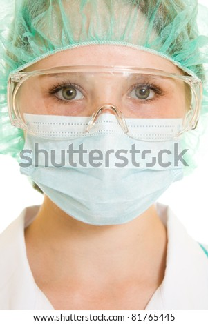 Doctor on a white background. - stock photo