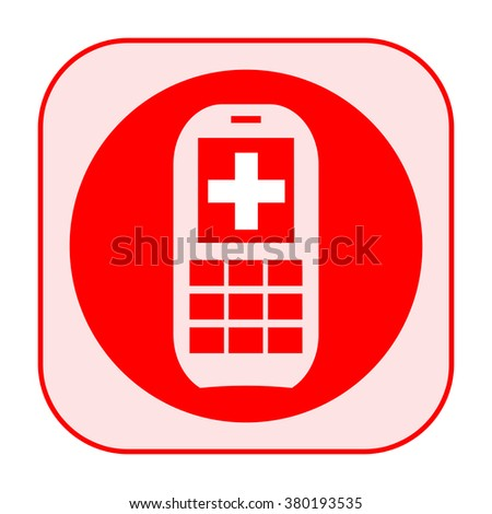 Doctor on call icon - stock photo