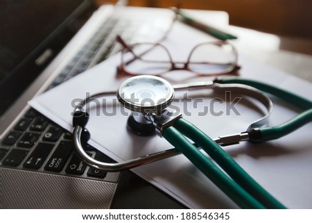doctor online - stock photo