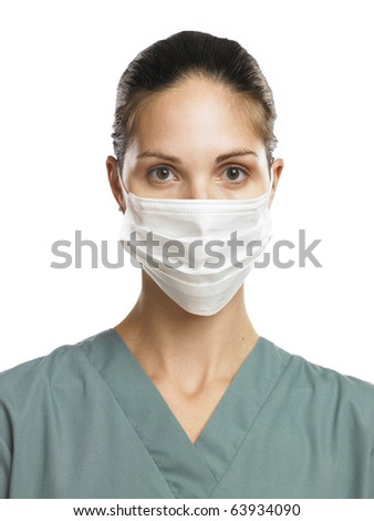 Doctor or Nurse with mask