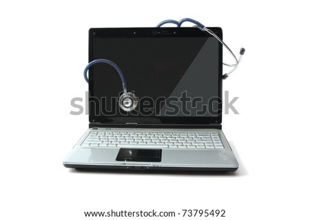 Doctor's computer. USB connection