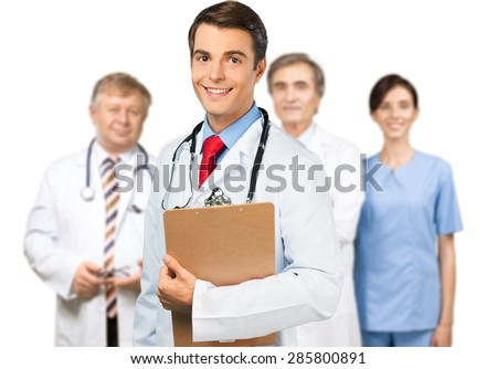 Doctor's Office, Doctor, Waiting Room. - stock photo