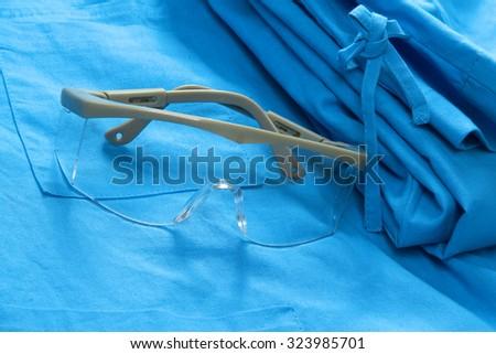 Doctor's uniform - close-up - stock photo
