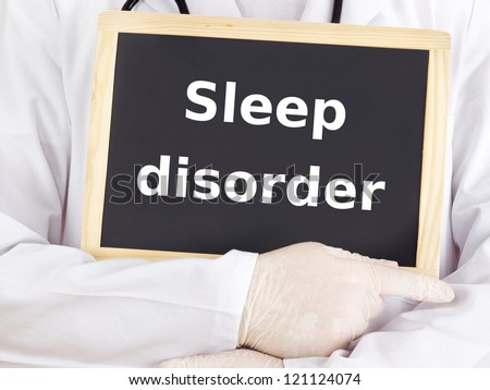 Doctor shows information: sleep disorder