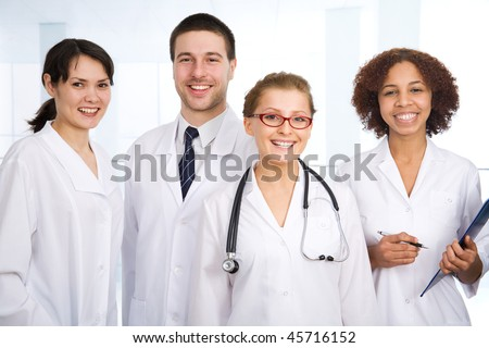 Doctor stays in front of her team