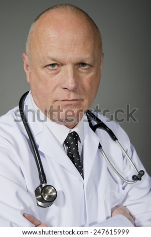 Doctor Wearing White Lab Coat - stock photo
