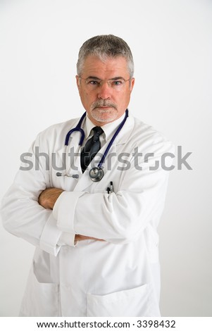 Doctor with a disapproving expression - stock photo