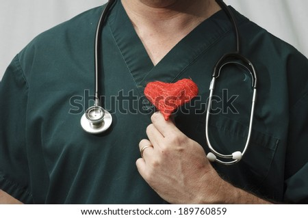 Doctor with a Heart - stock photo