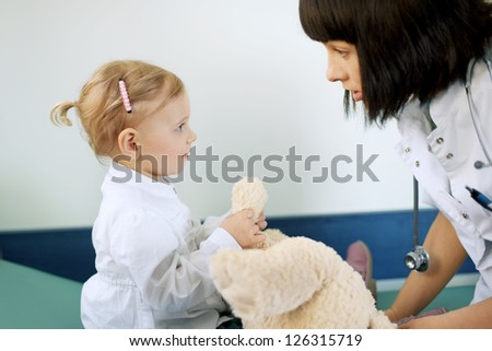 Doctor with baby girl