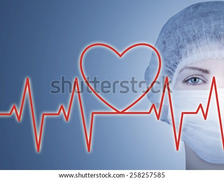 doctor with cardiogram