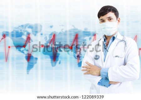 Doctor With Face Mask - stock photo