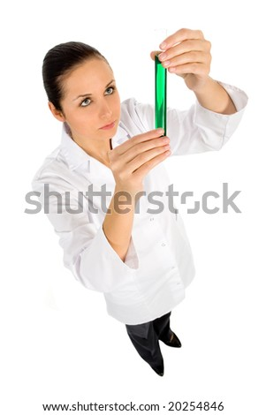 Doctor with test tube - stock photo