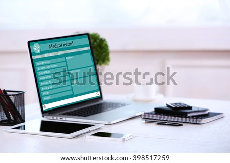 Doctor workplace - stock photo