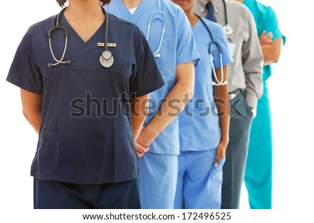 Doctors: Anonymous Medical Team - stock photo