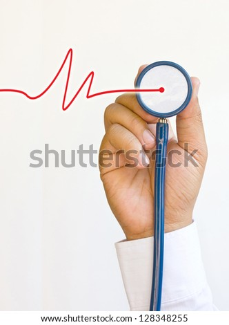 Doctors stethoscope and hands.