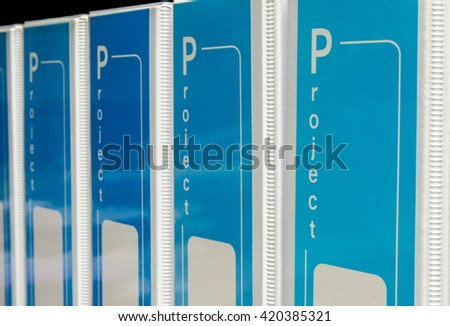 document binder stacked - stock photo