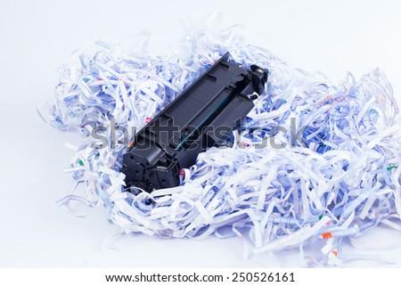 document destruction - stock photo