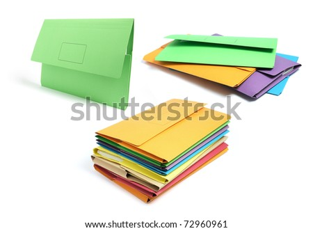 Document Folders on White Background - stock photo