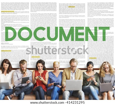 Document Forms Administrative Letters Notes Concept - stock photo
