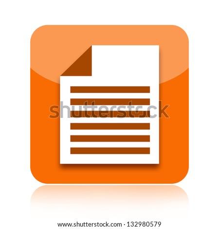 Document icon - stock photo