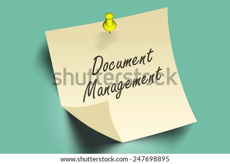 document management words on note paper  - stock photo