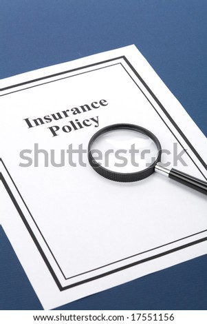 Document of Insurance Policy, Life; Health, car, travel,  for background - stock photo