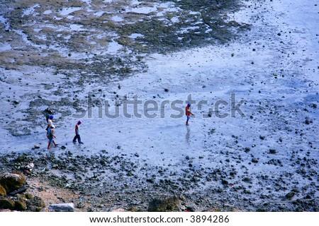 Documentary: Happy children in a poor township around cebu city philippines - stock photo