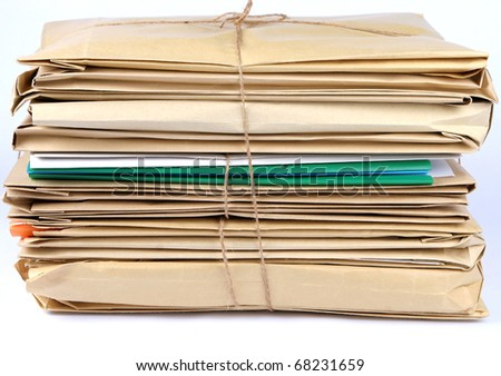 Documents and a lot of work - stock photo