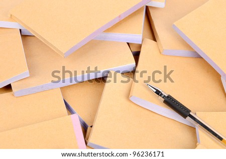 Documents and ballpoint - stock photo