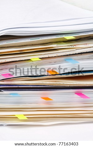 documents in the office
