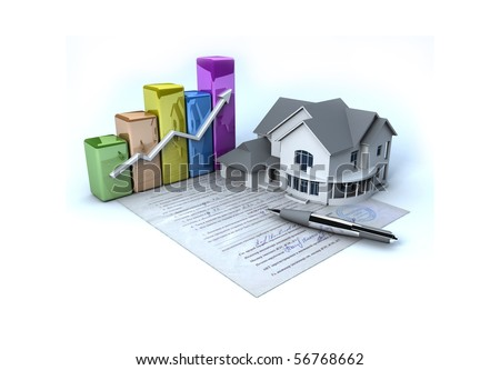 Documents on the house - stock photo