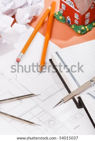 documents on the table - stock photo